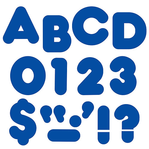 Ready Letters Royal Blue 4-Inch Casual Uppercase