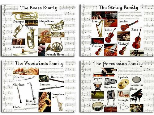 Musical Instrument Categories -  Bulletin Board Set