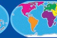 World Map Compass Border