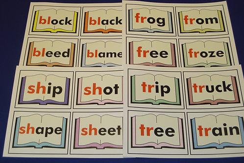 Consonant Blends on Mini Books
