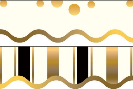 Gold Coin Double Sided Border