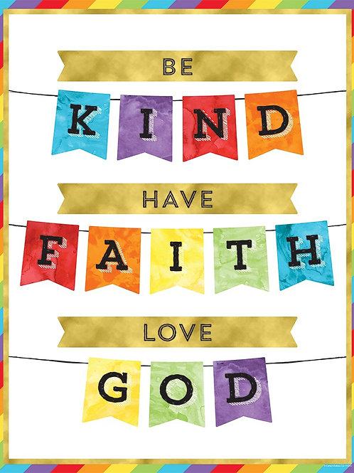 Be Kind Have Faith Love God Chart