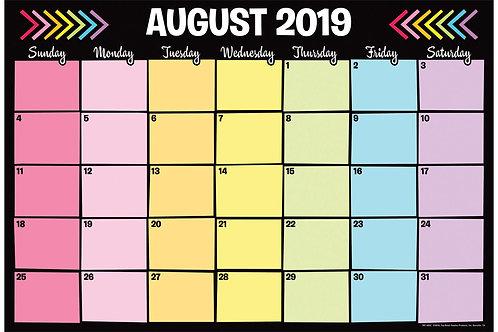 Academic Neon Desk Calendar 2019-20