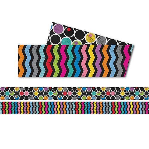 Colorful Chalkboard Straight Border