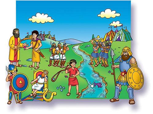 David and Goliath-Felt