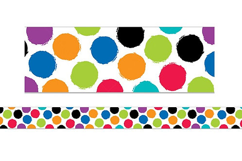 Bold & Bright Colorful Spots Border