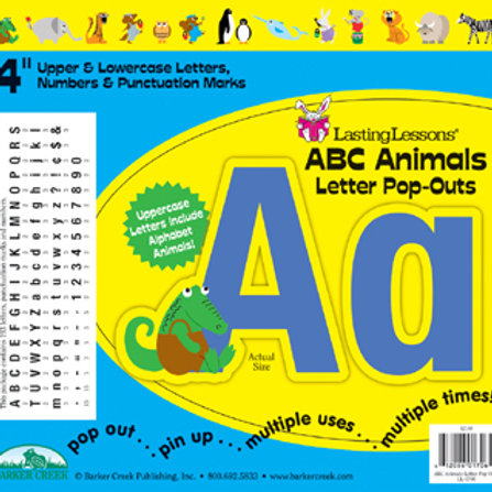 ABC Animal Pop Out Letters