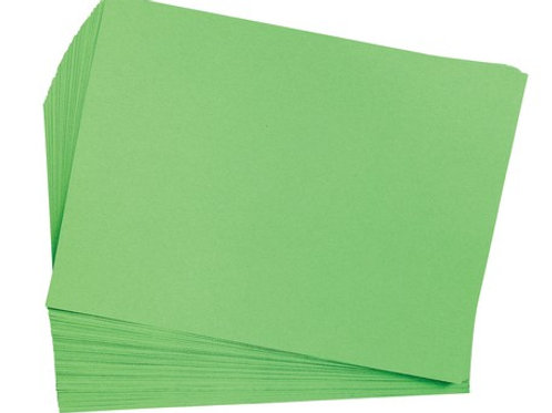 Construction Paper Bright Green 9x12  50 Pack
