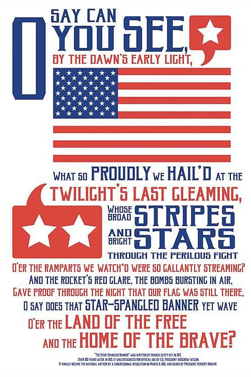 Star Spangled Banner Classroom Poster