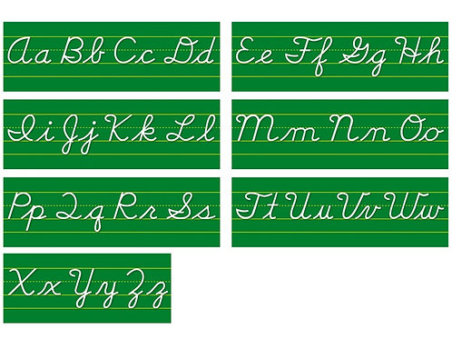 Alphabet Line Contemporary Cursive