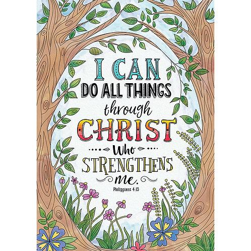 Philippians 4:13 Rejoice Inspire U Poster