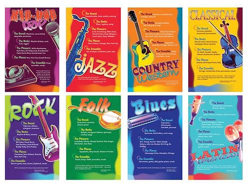 Music Genres Bulletin Board Set