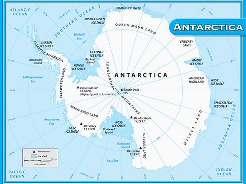Antarctica Map Chart