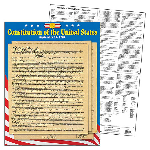 U.S. Constitution Learning Chart