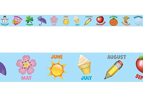 Emoji Fun Emoji Months of the Year Border