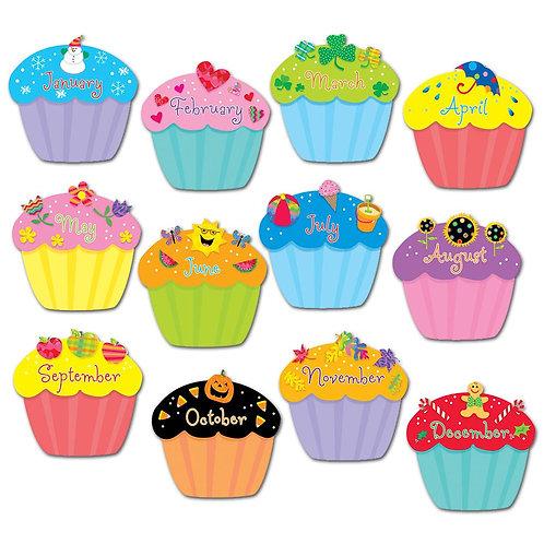 "Cupcakes 6"" Designer Cut-Outs"
