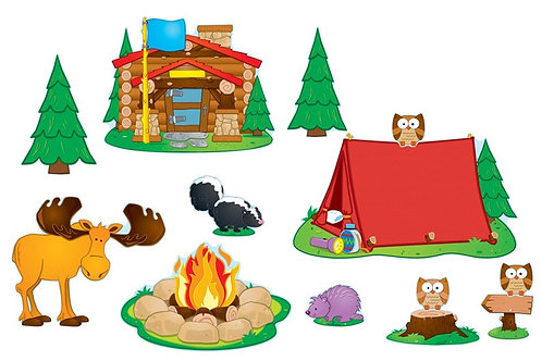 Camping Bulletin Board Set