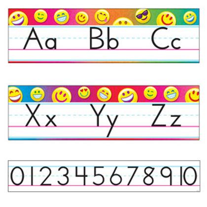 Emoji Alphabet Line Standard Manuscript
