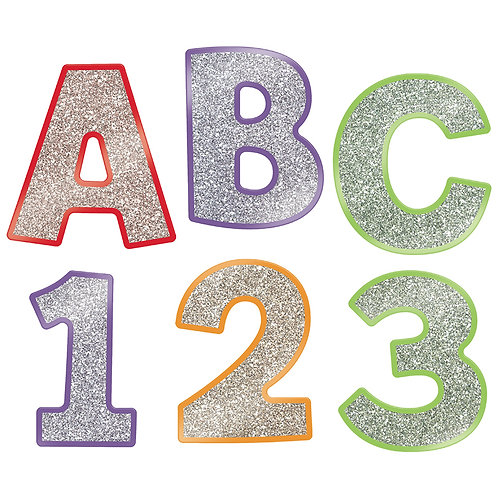 Colorful Glitter Combo Pack EZ Letters   4 INCH