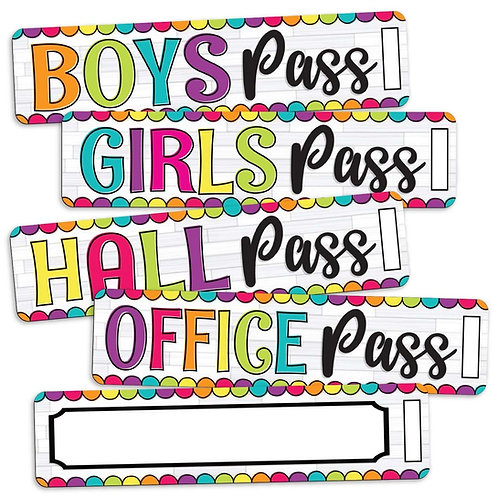 Dots Hall Pass Set (Magnetic)