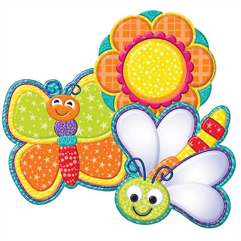 Color My World Bugs and Flowers Cut Outs