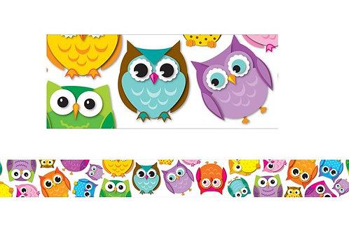 Color Owls Border