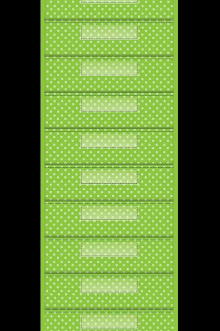 Lime Polka Dot 10 Pocket File Storage Pocket Chart