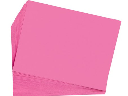 Construction Paper Hot Pink   9 x 12    50 pack