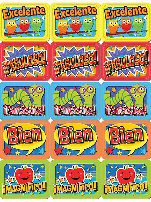 Spanish Phrases Stickers