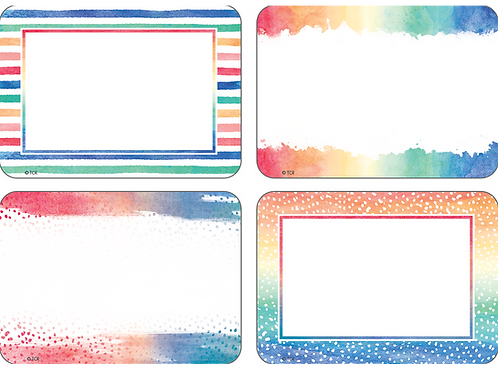 Watercolor Name Tags/Labels