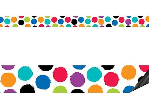 Bold & Bright Colorful Spots Magnetic Décor Strips—Small