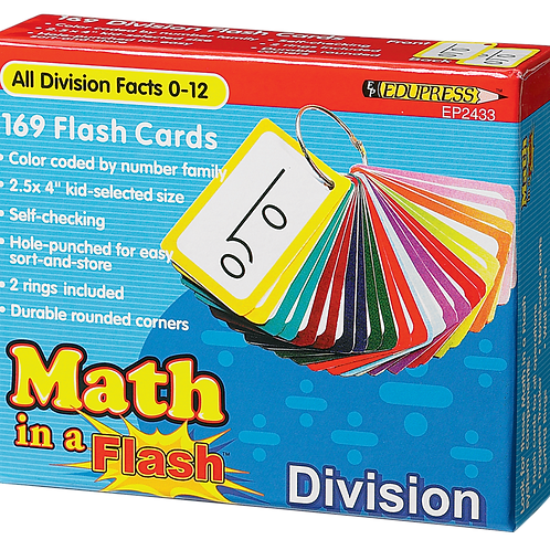 Math in a Flash Cards: Division