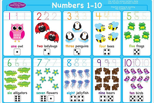 Numbers 1-10 Smart Poly™ Learning Mat