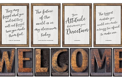 Industrial Chic Welcome