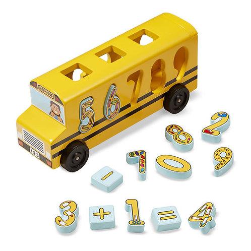 Number Matching Math Bus