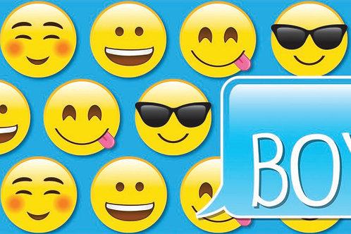 Emoji Boys Laminated Pass