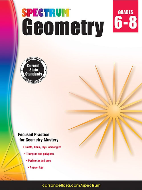 Spectrum Geometry Workbook Gr 6-8