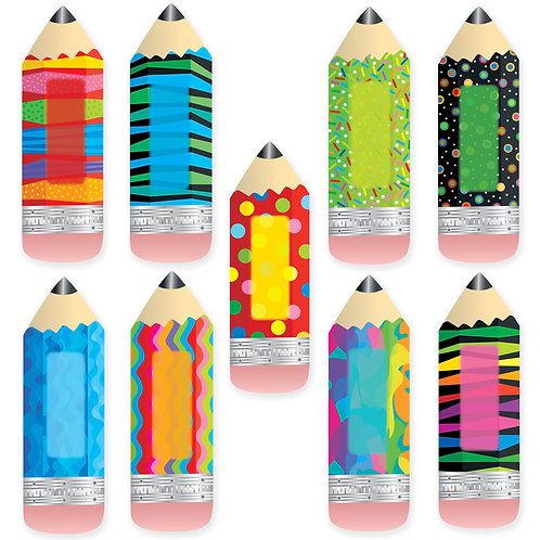 """Poppin' Patterns Pencils 6"""" Designer Cut-Outs"""