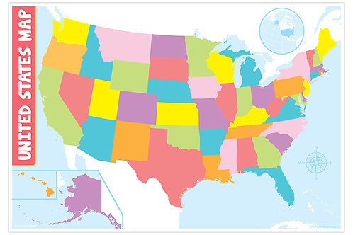 Blank U.S. Map Smart Chart
