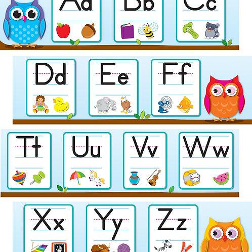 Colorful Owls Alphabet