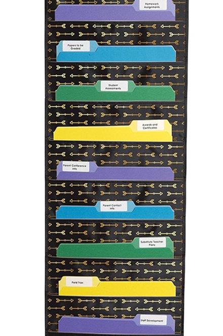 Gold Arrows Pocket Chart