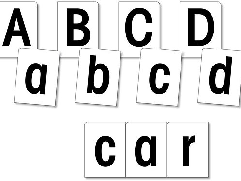 Large Alphabet Cards