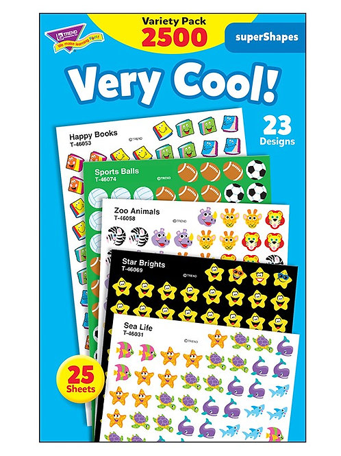 Very Cool!  Stickers Variety Pack - 2500 stickers