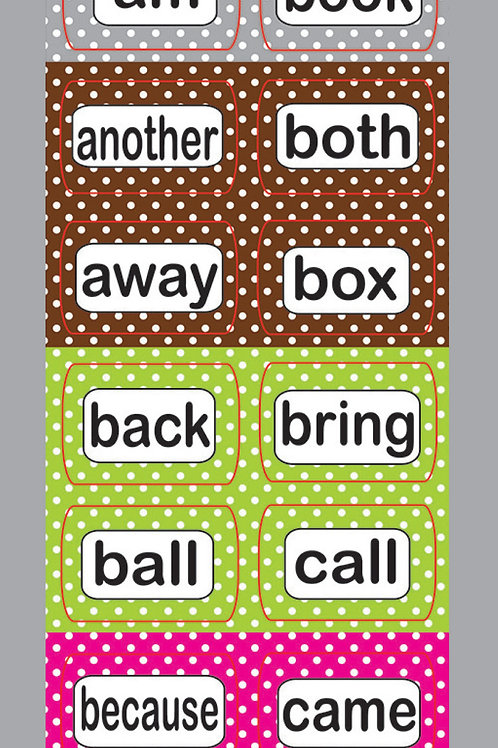 Die-Cut Magnetic Sight Words 2nd 100 Level 2 Dolch & Fry