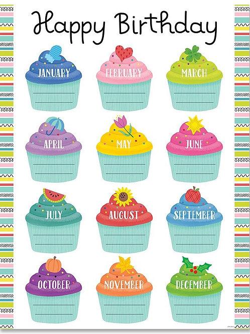 Color Pop Birthday Chart