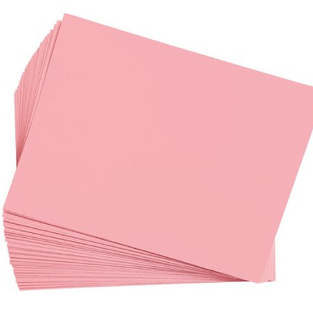 Construction Paper Pink    9 x 12    50 pack