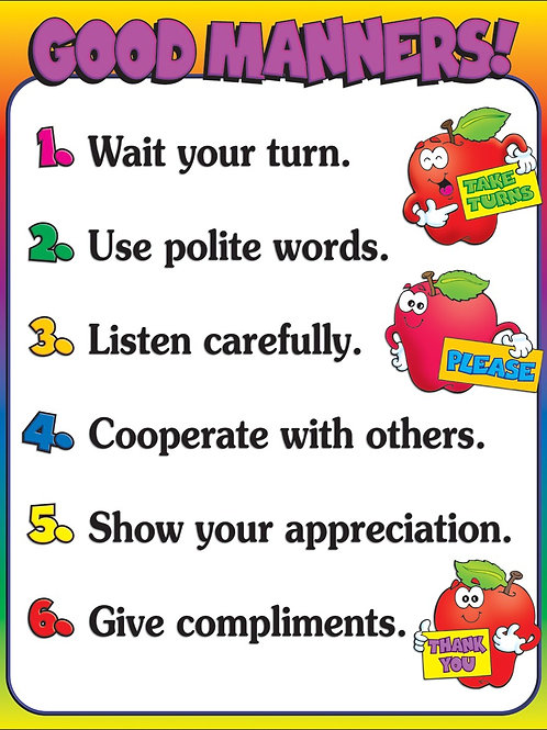 GOOD MANNERS CHART