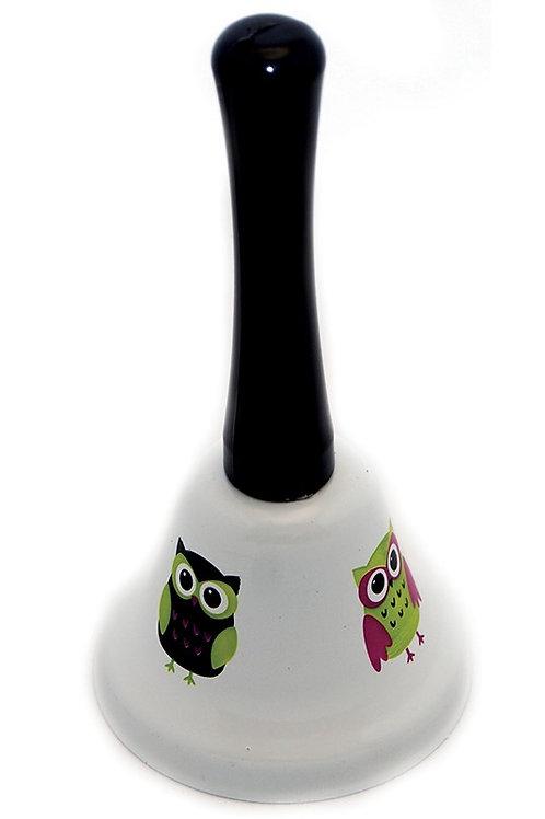 DECORATIVE HAND BELLS OWLS