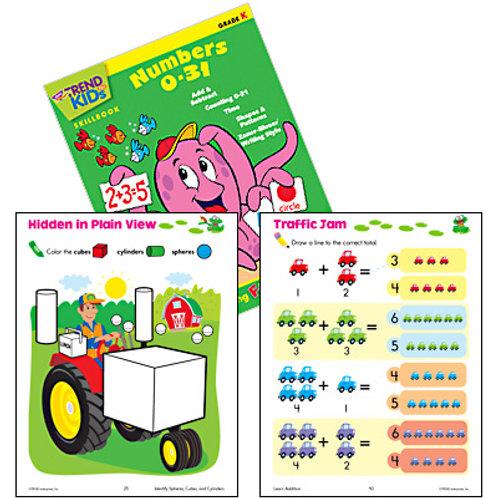 Numbers 0-31 Workbook