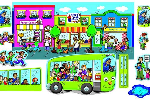 Wheels on the Bus-Felt